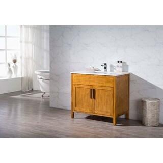 Stufurhome Evangeline 37 Inch Single Sink Bathroom Vanity