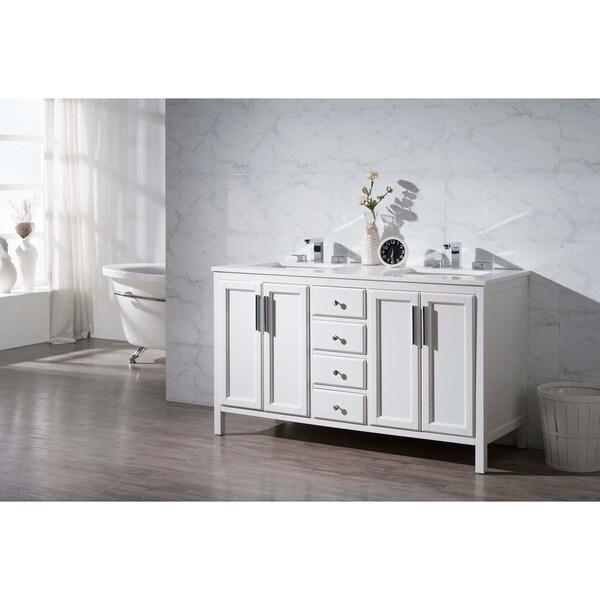 Stufurhome Emily 59 Inch Double Sink Bathroom Vanity 17497758 Overstock C