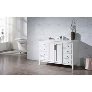 Stufurhome Emily 49 Inch Single Sink Bathroom Vanity