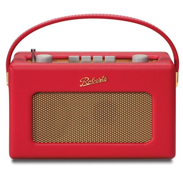 Robert's Radio 1950's Style Red Leather Finish Retro Radio