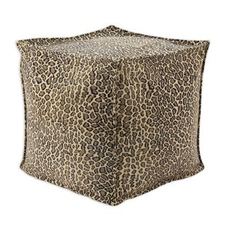 Bobcat Camel Simply Soft 17-inch Square Beads Hassock