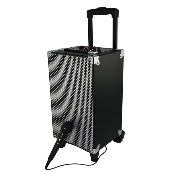 SoundLogic XT Rechargeable Bluetooth Wireless/ USB/ SD Card/ FM Radio Portable Tailgate Speaker System with Handle