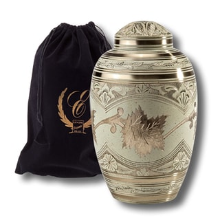 Elegante Solid Brass Adult Urn with Black Pouch