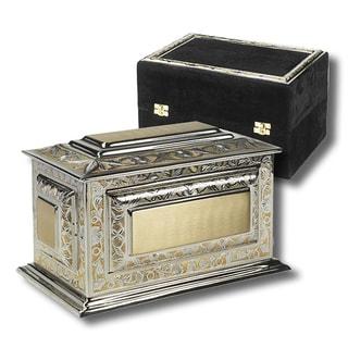 Renaissance Cremation Urn with Velvet Case