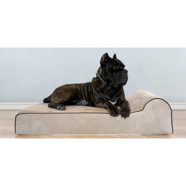 Bully Beds Medium Tan Orthopedic Big Dog Memory Foam Bed