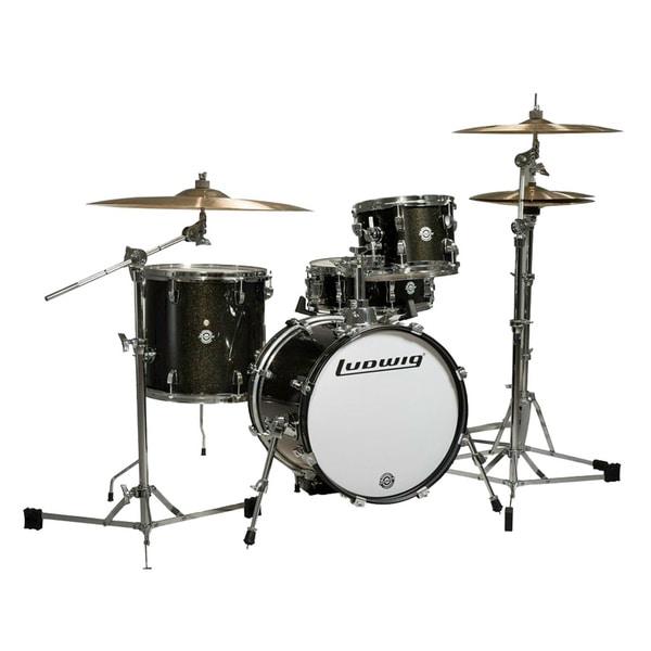 Ludwig Breakbeats 4-piece Black Sparkle Shell Pack
