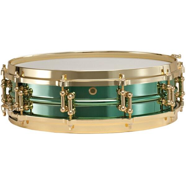 Ludwig 4x14 Carl Palmer 'Venus' Signature Green Brass Snare Drum