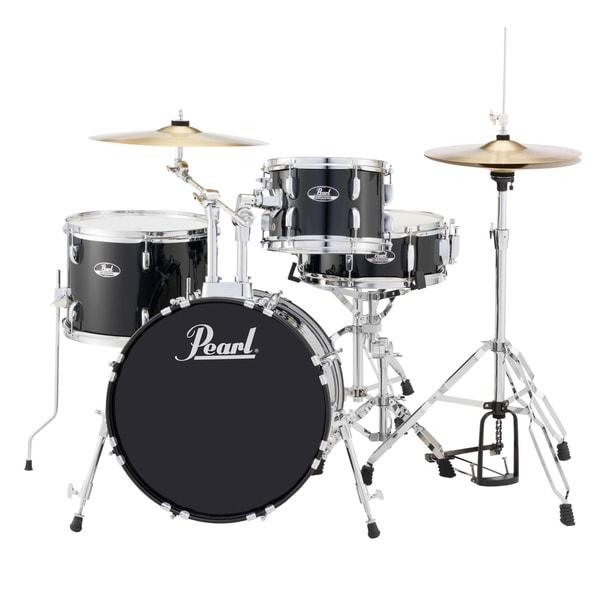 Pearl Roadshow Rs584 4-piece Jet Black Drum Set