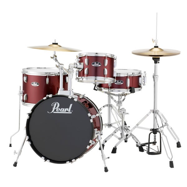 Pearl Roadshow Rs584 4-piece Wine Red Drum Set