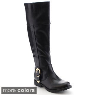 Nature Breeze Kimo-02 Women's Classic Apron Rear Zipper Knee High Riding Boots