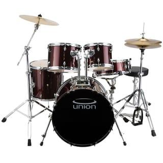 Union - U5 5-piece Jazz Rock Blues Wine Red Drum Set