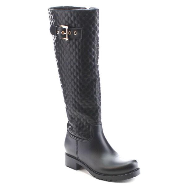 Nature Breeze Storm-02 Women's Quilt Full-length Side Zipper Knee High Boots