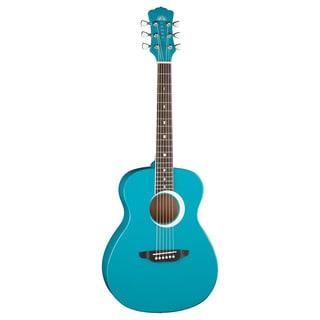 Luna Aurora Borealis 0.75 Teal Guitar