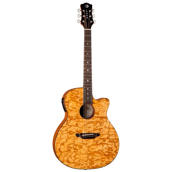 Luna Gypsy Quilt Natural Guitar
