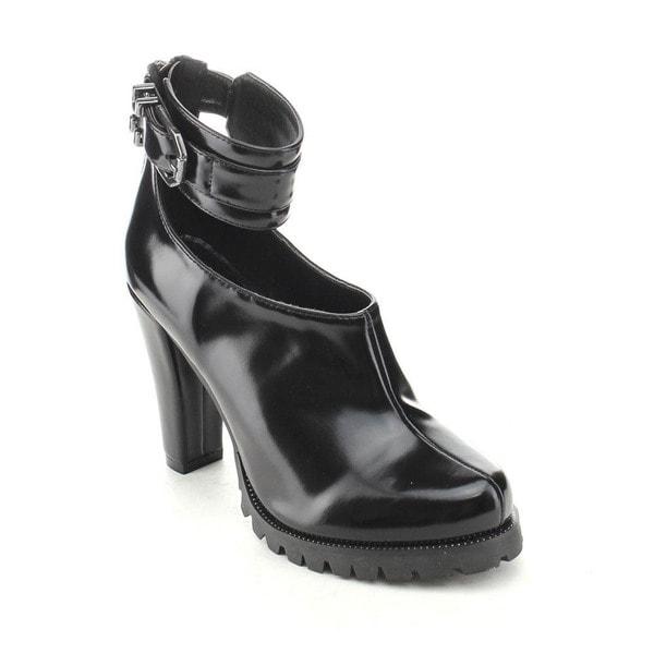 C Label Binky-1 Women's Buckle Lug Sole Chunky Heel Ankle Strap Platform Heels