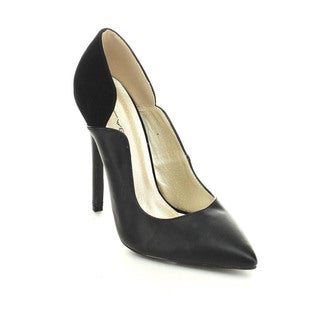 C Label Dayna-1 Women's Slip On Pointed Toe Stiletto Derss Pumps High Heels