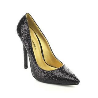 C Label Dayna-8 Women's Glitter Slip On Pointed Toe Stiletto Derss Pumps Heels