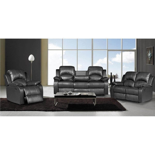 Nadia 3-piece Bonded Leather Recliner Set