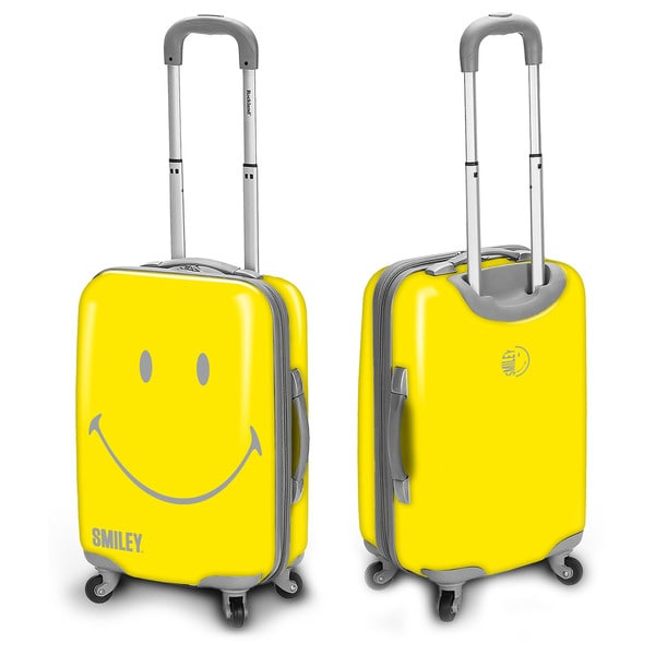 Smiley Classic 26-inch Hardside Spinner Upright Suitcase