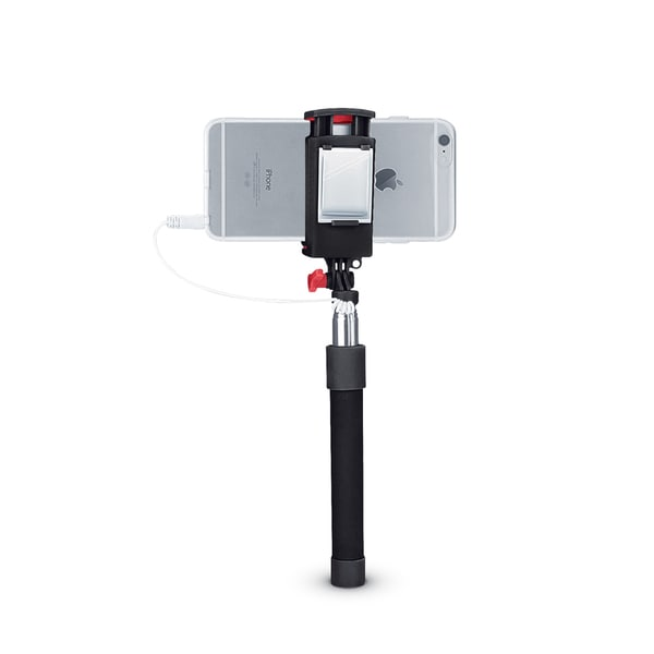 Merkury Innovations Compact Selfie Stick with Shutter Button and Mirror