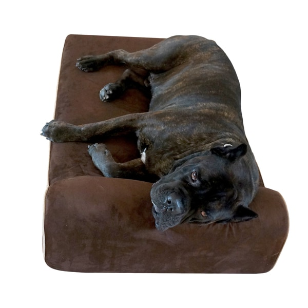Bully Beds Small Chocolate Orthopedic Big Dog Memory Foam Bed
