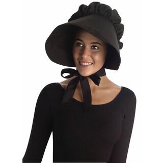 Colonial Black Bonnet Hat Costume