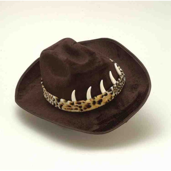 Brown Cowboy Hat with Crocodile Teeth