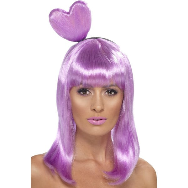 Candy Queen Purple with Heart Wig