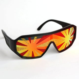 Macho Man Red Gold Starburst Sunglasses