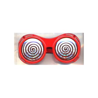 Red Round Hypnotize X-ray Vision Glasses