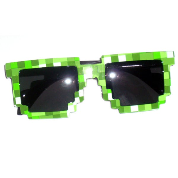 8-bit Pixelated Green Adult Sunglasses