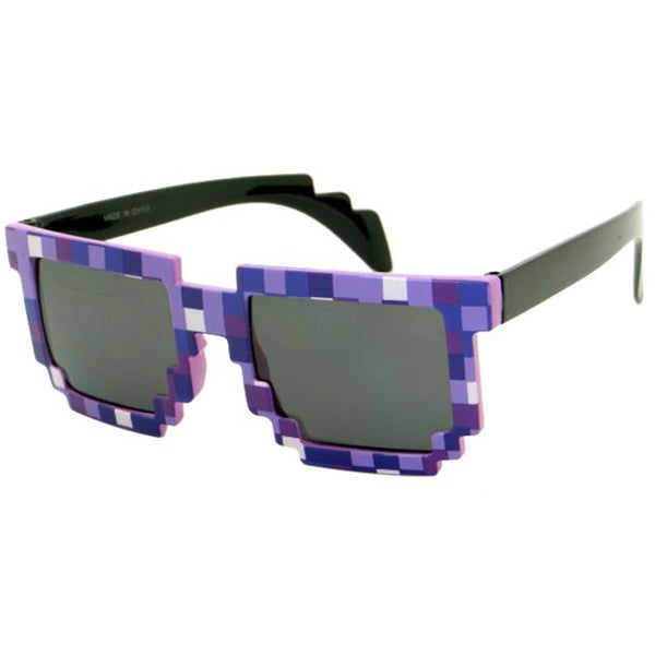 8-bit Pixelated Purple Adult Sunglasses