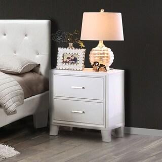 Furniture of America Sunjan Weathered Elm 2-Drawer Nightstand