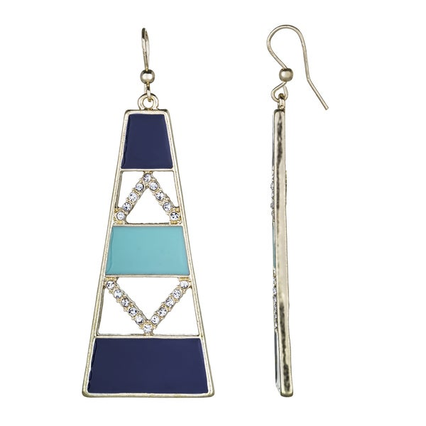 Blue Stone Modern Dangle Earrings