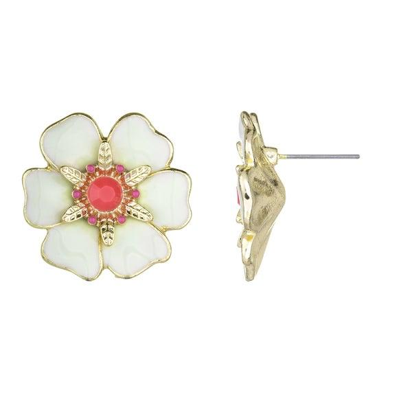 Large Tropical Flower Stud Earrings