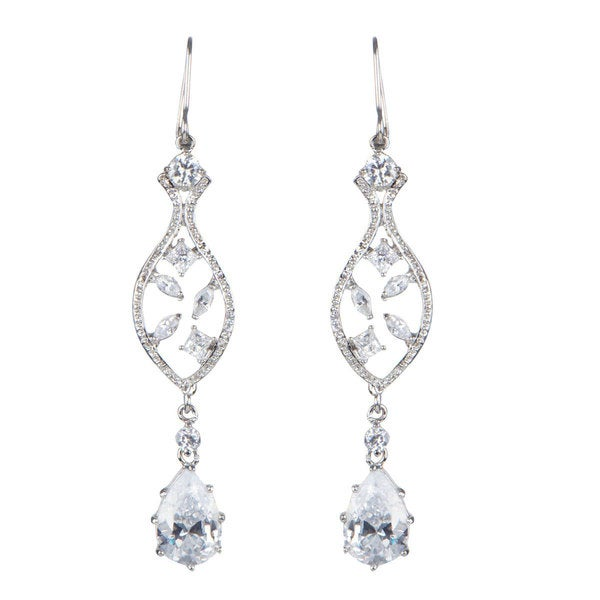 CZ Pear Drop Earrings 15921221