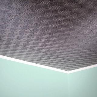 Fasade Cyclone Galvanized Steel 2-feet x 2-feet Glue-up Ceiling Tile