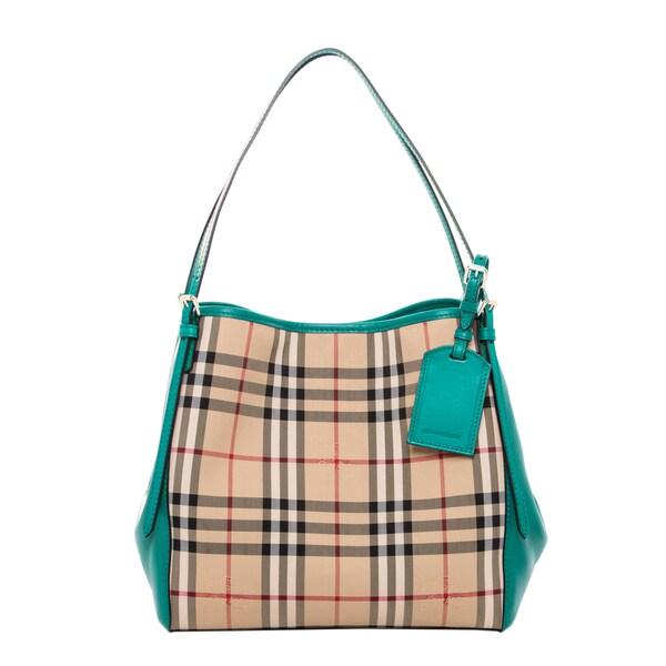 Burberry Small Canter Horseferry Check Leather Handbag