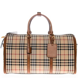 Burberry Horseferry Check Alchester Holdall Bag