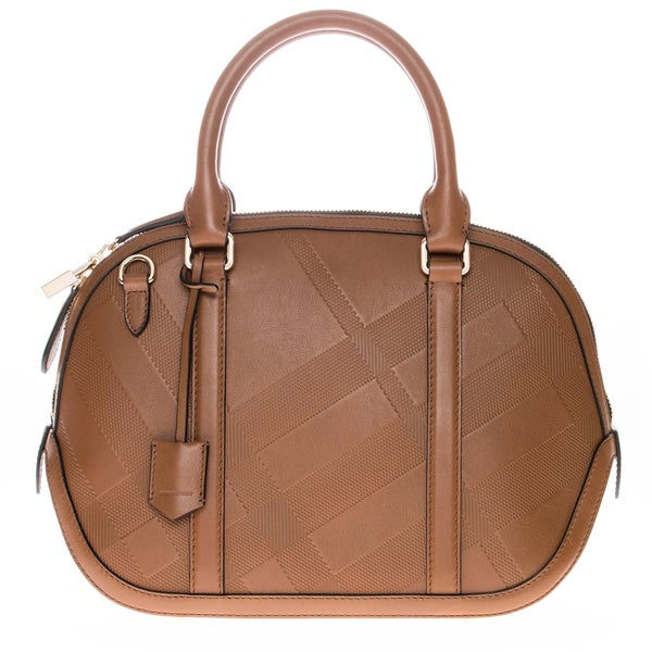 Burberry Small Soft Check Orchard Bowling Bag