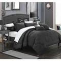 Chic Home Direllei Black Down Alternative 7-piece Comforter Set