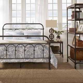 TRIBECCA HOME Morocco Dark Bronze Casted Knot Metal Bed
