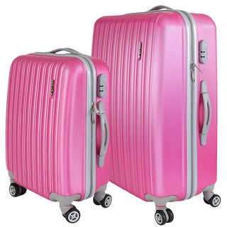 InUSA Houston Collection 2-piece Lightweight Hardside Spinner Luggage Set