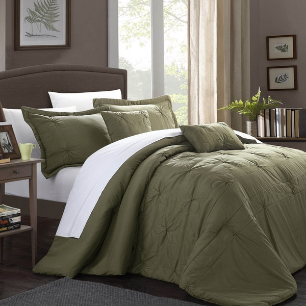 Chic Home Aramitta Floral Quilted Applique 5-piece Comforter Set