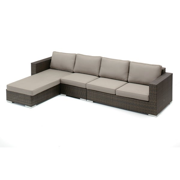 Decorative Modern Indoor/ Outdoor Sectional with Chaise Lounge (Right Side)