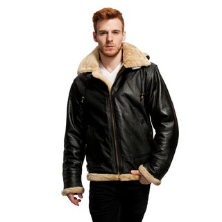 Wilda Men's B3 Leather Bomber Jacket