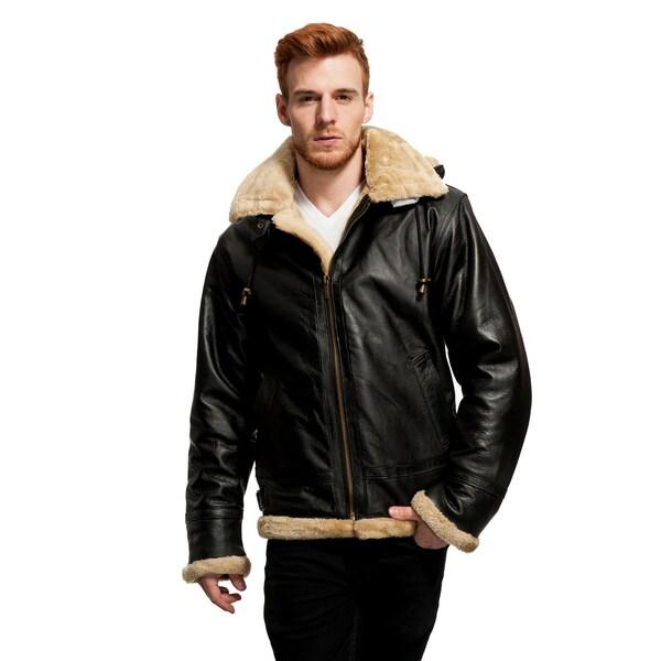 Wilda Men's B3 Leather Bomber Jacket
