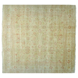 Oversize Square Oushak Oriental Rug Hand Knotted (17'8 x 18'7)