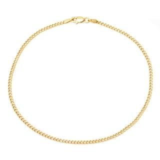 Pori 10k Yellow Gold Cuban Chain Anklet