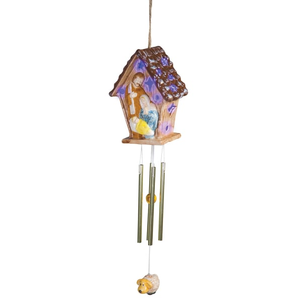 Nativity Solar LED Wind Chime
